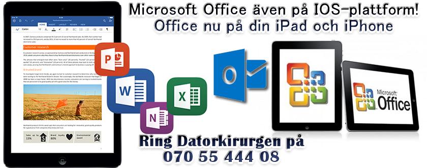 Office på ipad, iphone, iMac