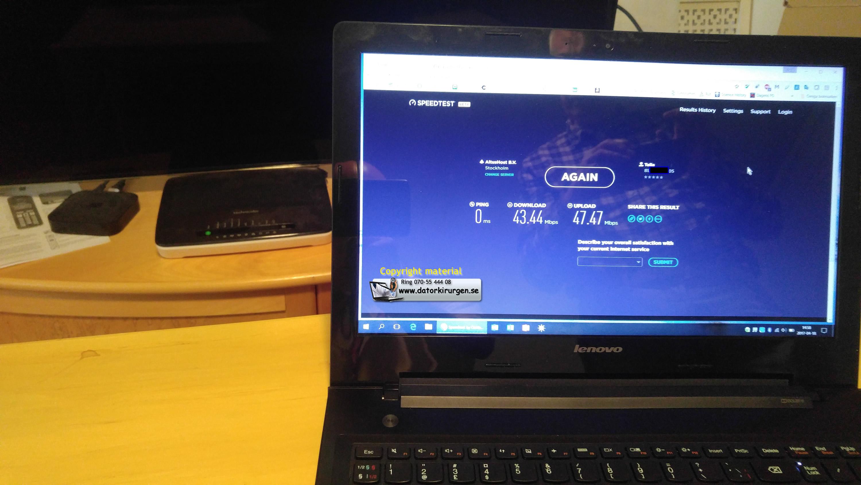 långsamt internet telia