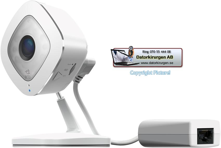 Trådlös övervakningskamera inomhus Netgear Arlo Q Plus Datorkirurgen AB 5e2e85f89b4c6